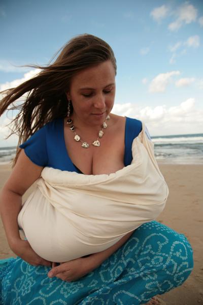 Breastfeeding in a Baba Sling