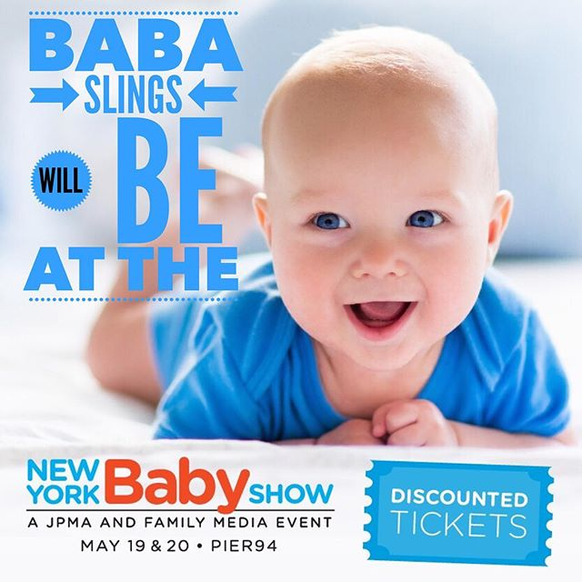 Come and try on our beautiful Baba Slings at the largest baby show in the US @newyorkbabyshow from the 19th-20th of May look out for the @sykiproducts stand!! Enter code Partner30 for a 30% discount on tickets