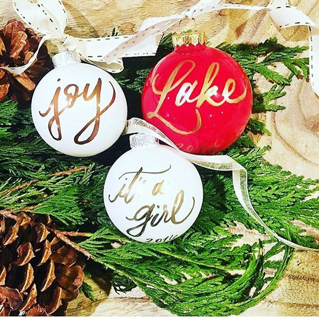 'Tis the season for personalized ornaments!! We will be at all @magpies_gifts locations so save the dates and come by and see us! Dec 4- in Bellaire, Dec 7- in Sugarland and Dec 11th at Cypress! We will be there from 10-2, who's ready for some personalized gifts! ❤️