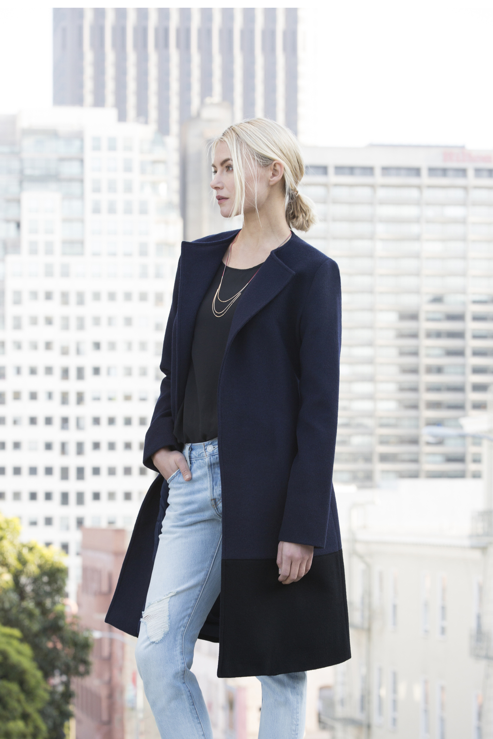 A Navy-Black Colorblock Blanket Coat Full Body.jpg