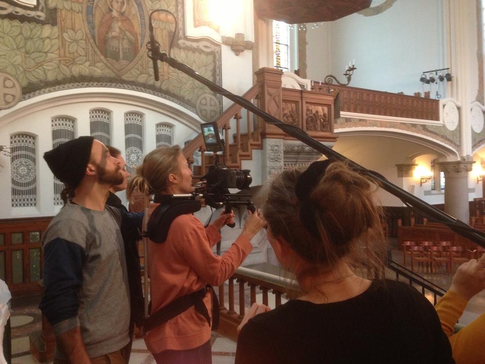 Photographer in a beautiful church...