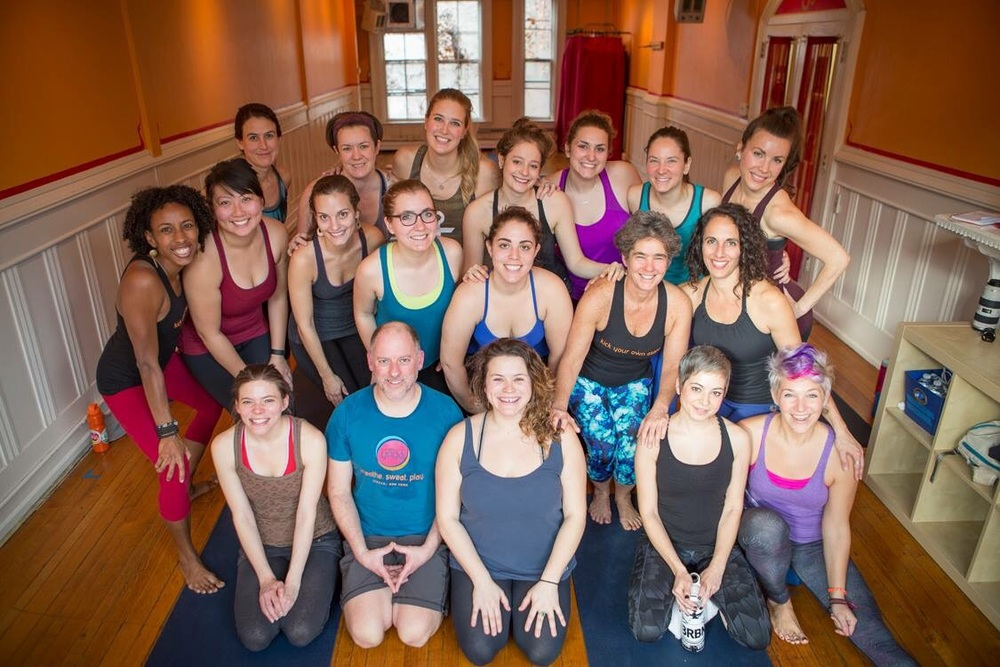 photo: Lindsay France for Mighty Yoga  Look at all of the smiling faces in this picture! I love it - I love watching each of you on your journey each week :)