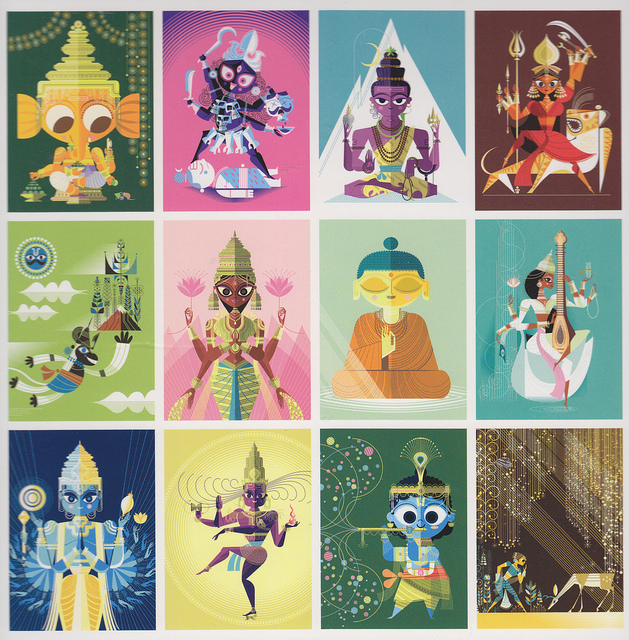The Big Poster Book of Hindu Deities - Written & Illustrated by Sanjay Patel