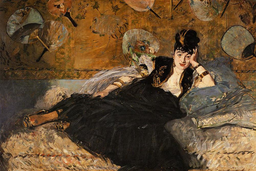 Edouard Manet's  The Lady With Fans ( 1873)