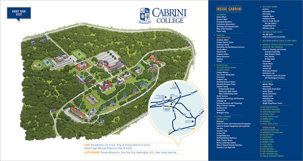 Cabrini College Campus Map.Cabrini College Admissions Materials Kelsh Wilson Design