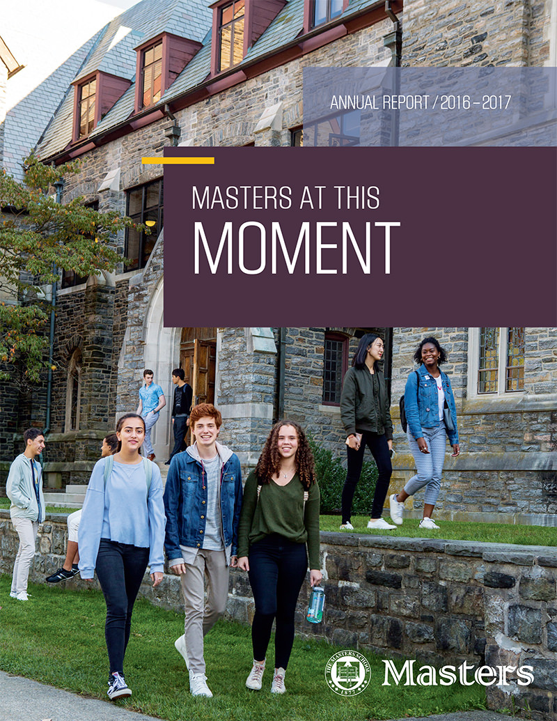 The Masters School 2016-17 Annual Report Cover