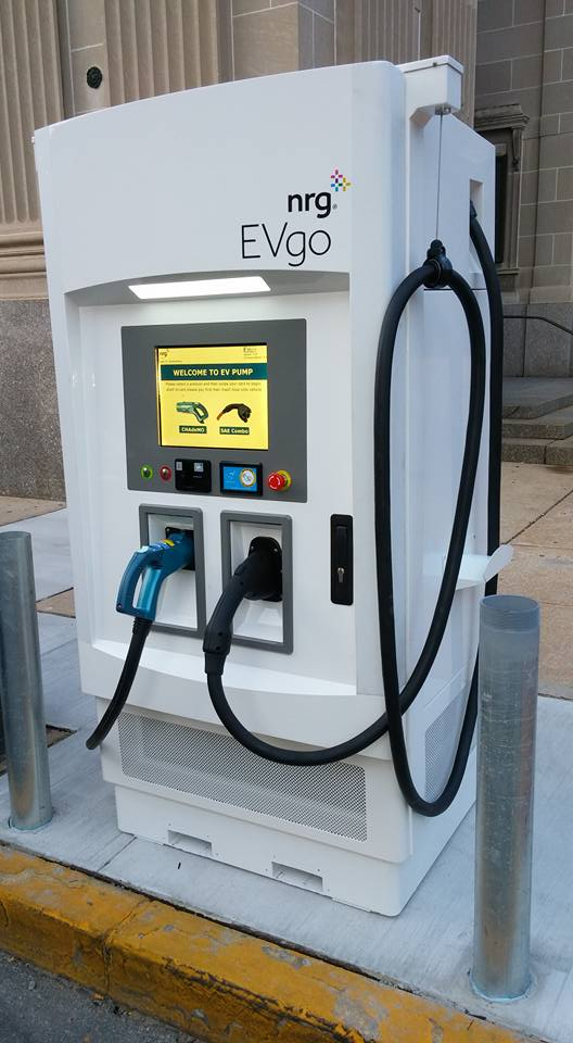 evgo electric car charging station in downtown york pa