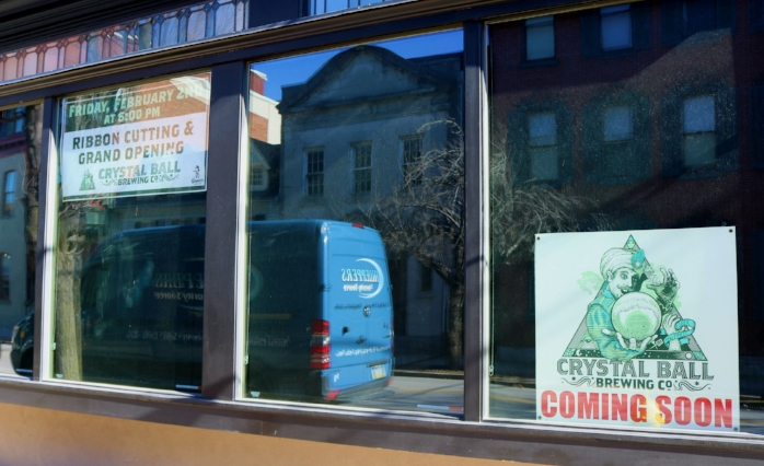 Crystal Ball Brewing Company will complete a new merchant hub on South Beaver Street.