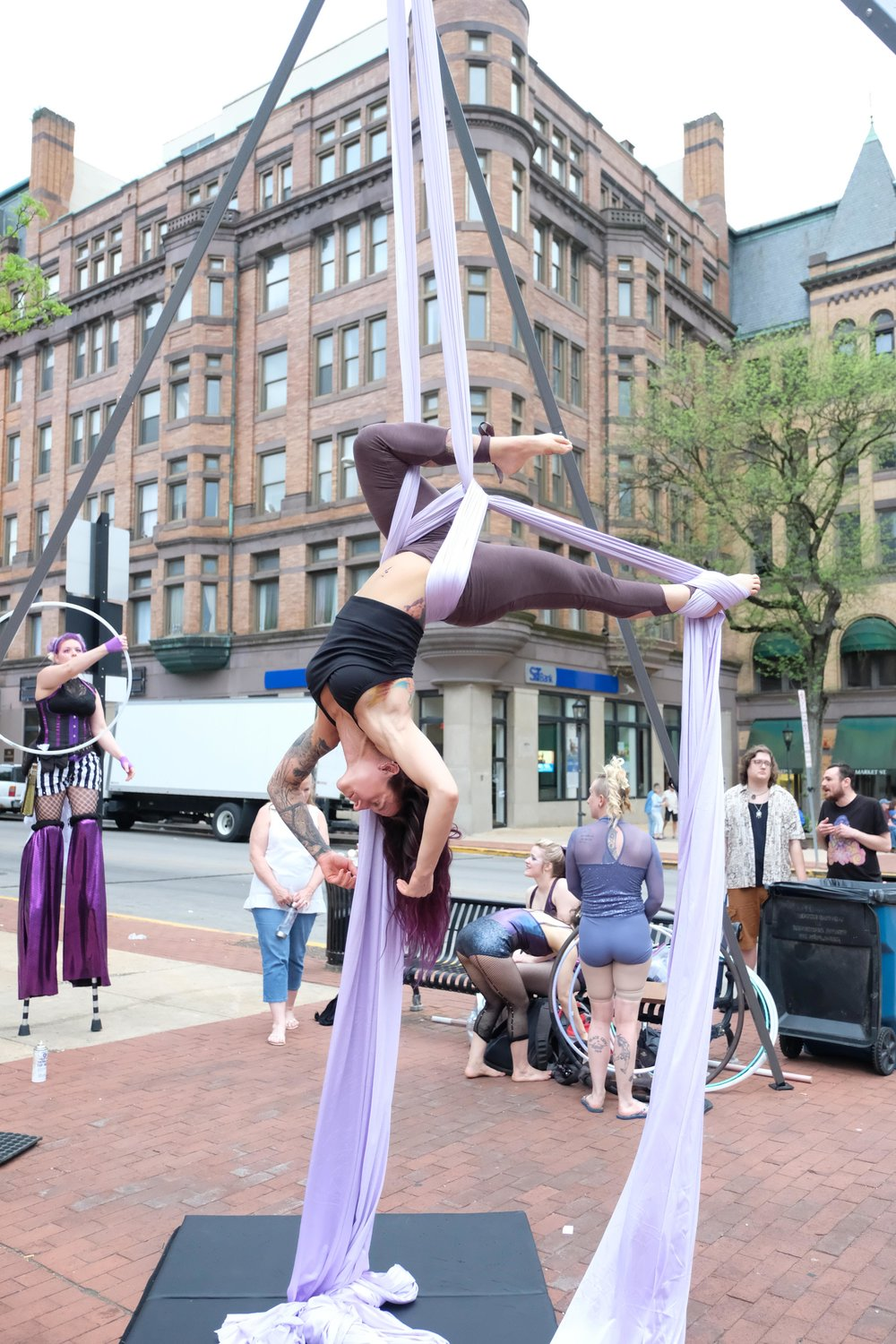 Artists like the REnedgade Collective, shown performing during First Friday, are definitely Edgy. Do you know any others?