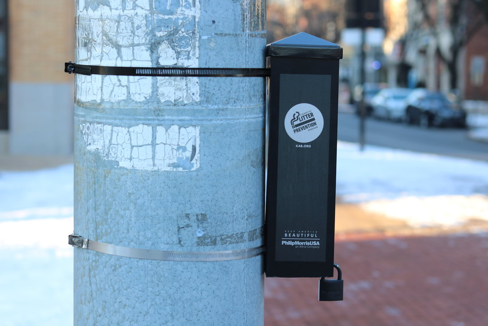 With support from Keep America Beautiful and the City of York, Downtown Inc facilitated the installation of 18 cigarette ash receptacles around Downtown York.