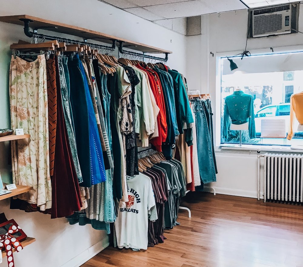 Stay sustainable with vintage clothes and accessories from Revolt Style Studio.