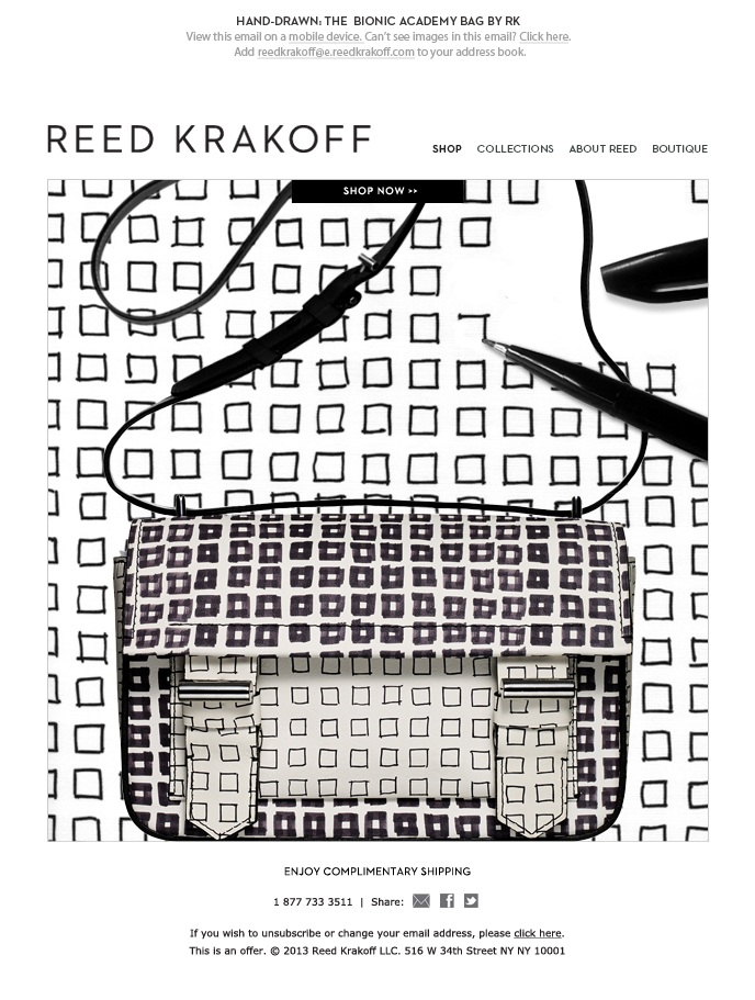 Reed Krakoff Email