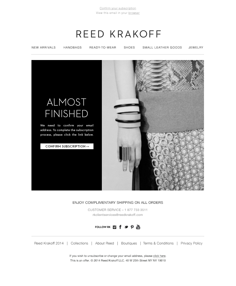 Reed Krakoff Automated Email Program