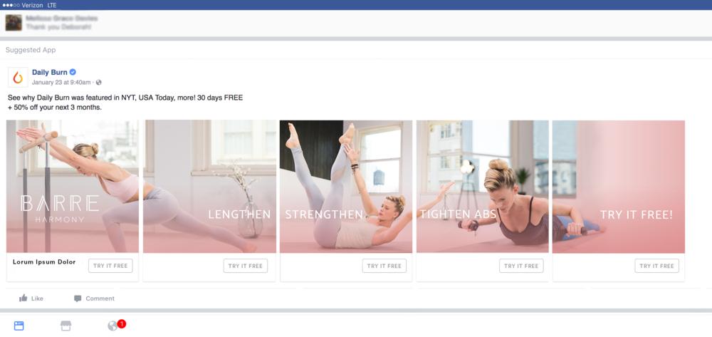 Facebook Carousel