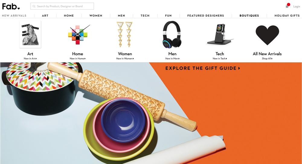 Fab.com Redesign