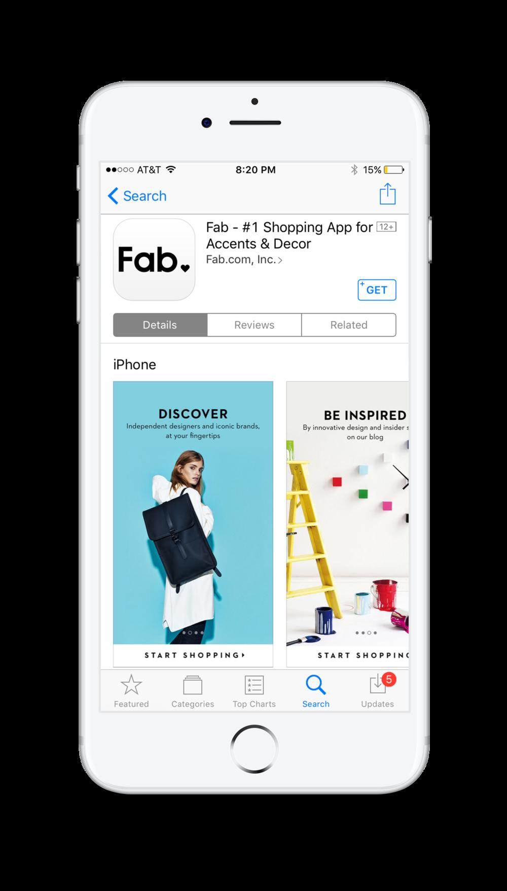 Fab App Webby Winner