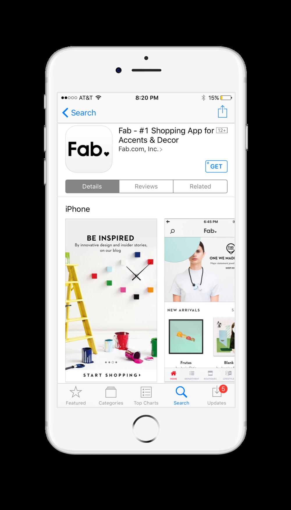 Fab App Webby Winner 2016