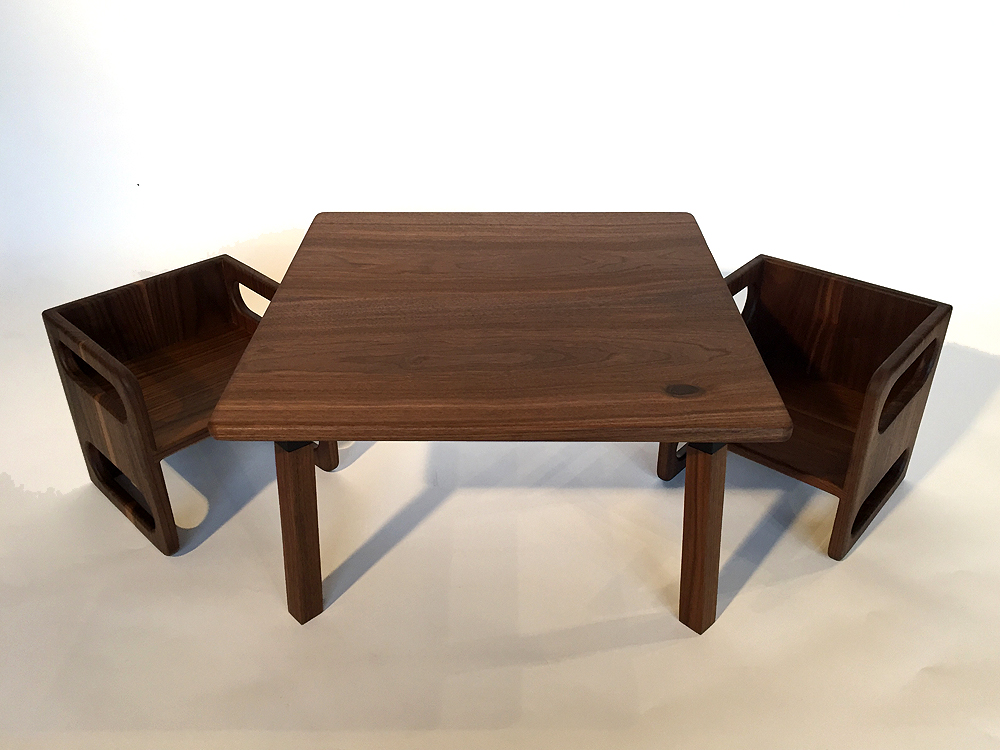 Ella Adams Kids\' Table and Cube Chair Set — d+p Design Build, LLC