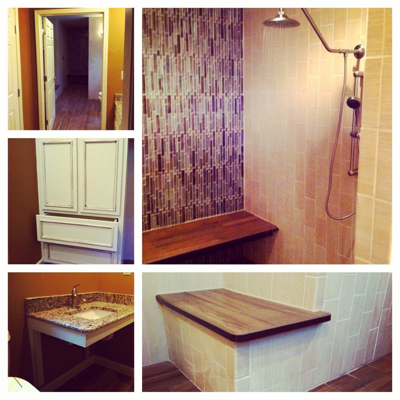 Coffey ADA Bathroom Renovation Dp Design Build LLC - How to build a handicap bathroom