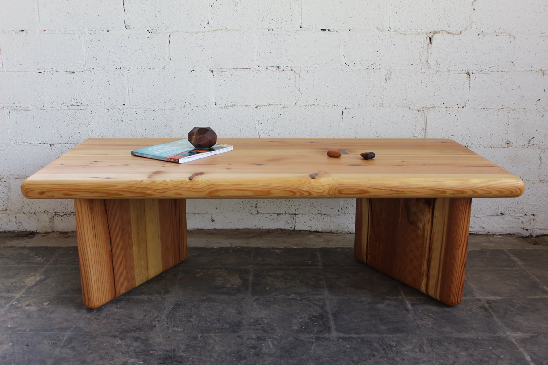 Admirable Modern Reclaimed Heart Pine Coffee Table D P Design Build Llc Interior Design Ideas Lukepblogthenellocom