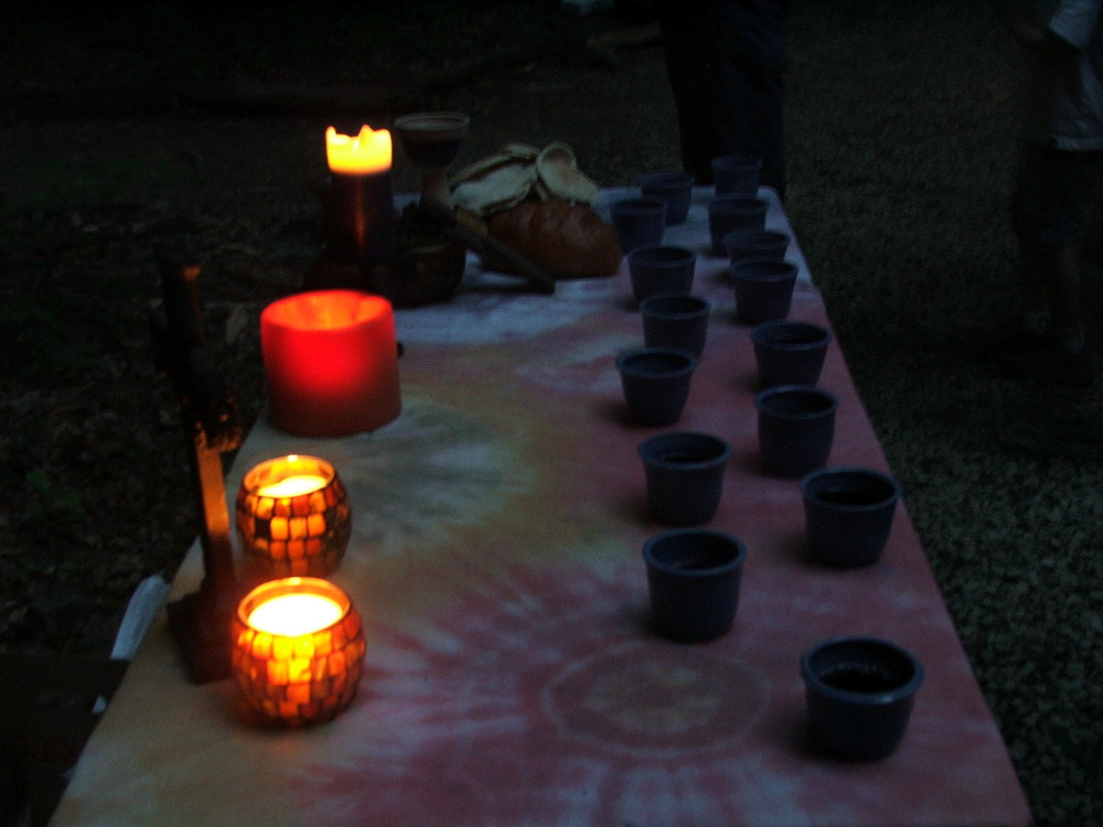 communion at Camp Wesley Woods . . .