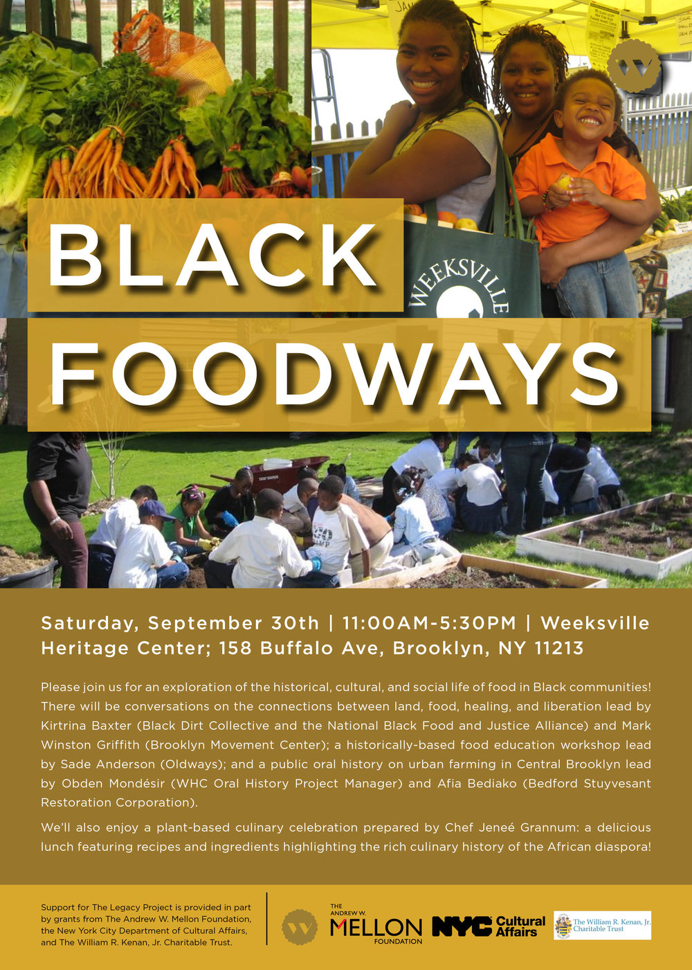 - Whether in celebration, mourning, or fellowship, gathering to break bread has always been integral to the Black experience. The Legacy Project continues with