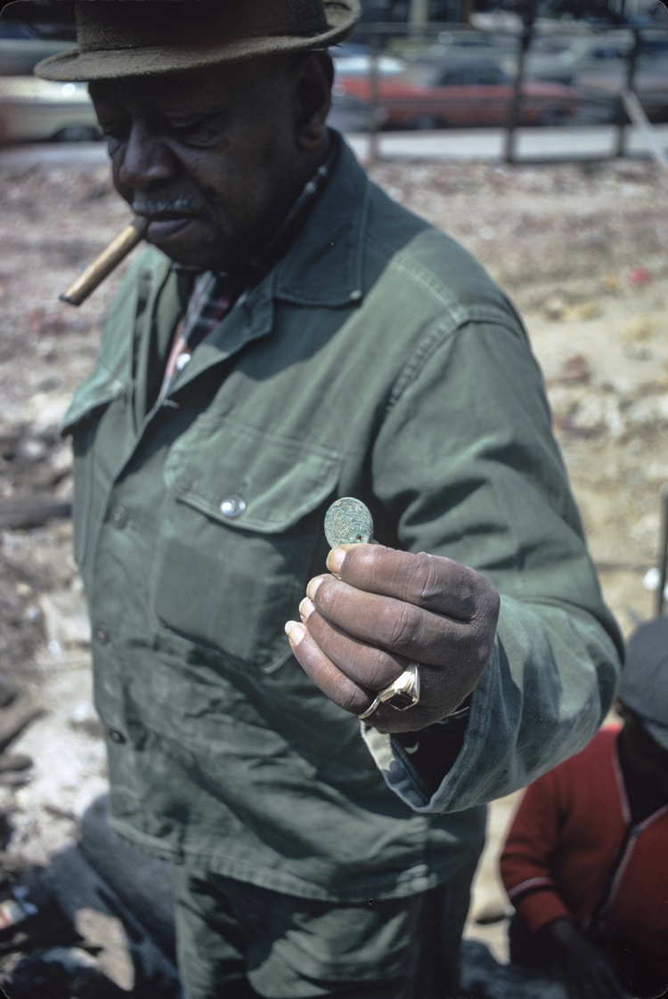 William Dewey Harley, Weeksville Garden Archaeological Dig, 1968-1969. Jim Hurley Slide Collection, 5th of July Resource Center for Self-Determination & Freedom