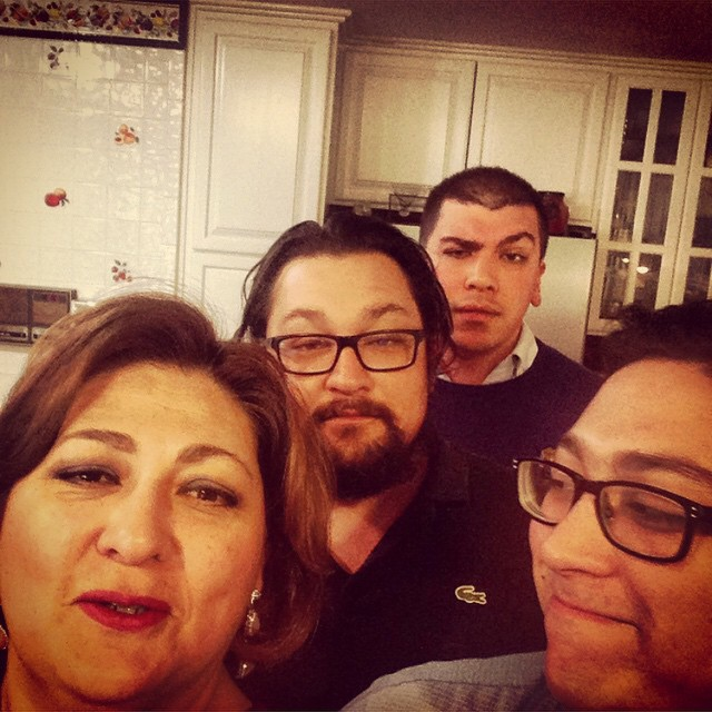 Mom (and her three sons), Thanksgiving 2014