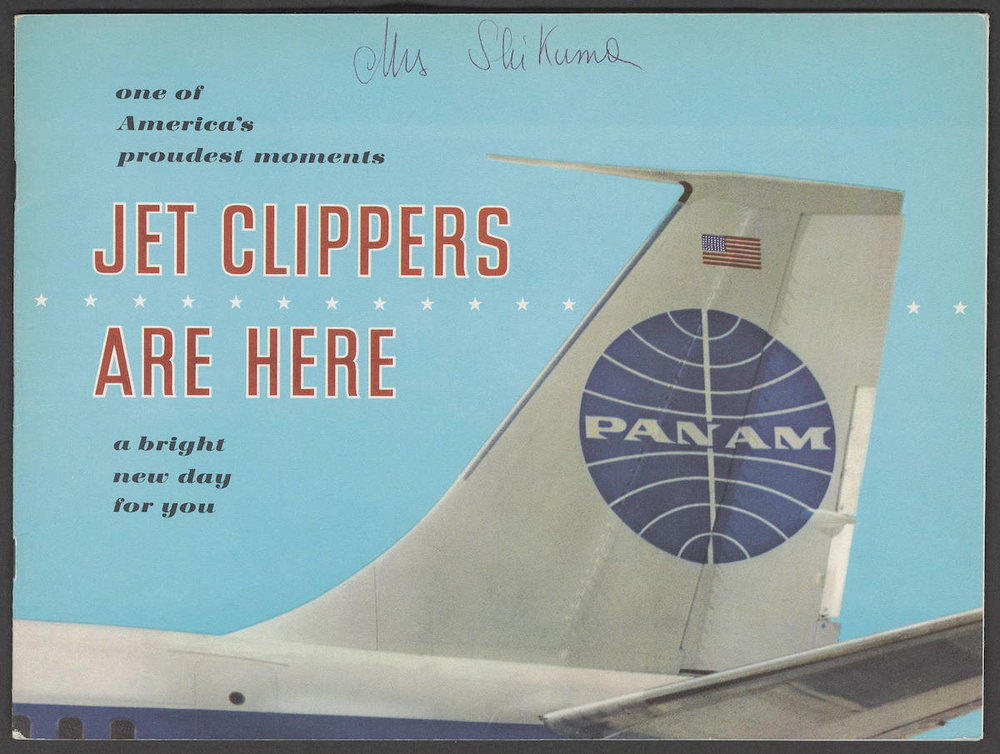 """""""Jet Clippers Are Here"""" brochure cover, 1958"""