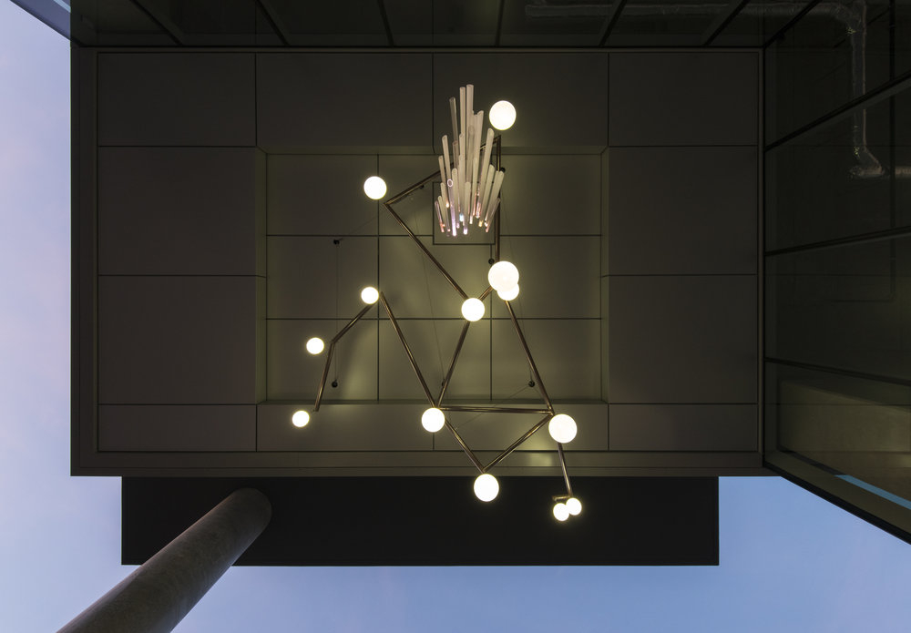 Cosmic Chandelier by Holly Ward, for UniverCity SFU