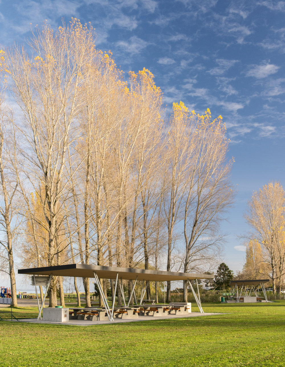 Centennial Beach Shelters, for Public Architecture