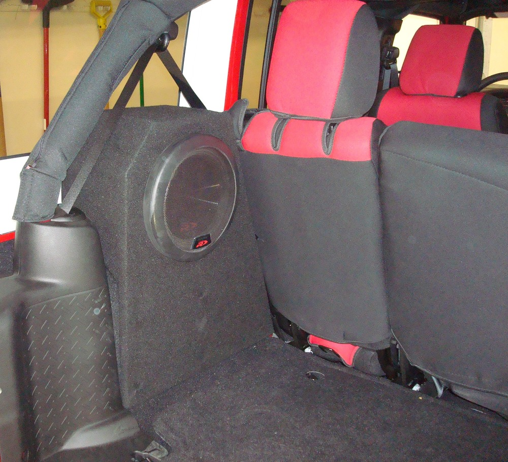 2012 Jeep Wrangler Custom Box Build for Alpine Type R Subwoofers