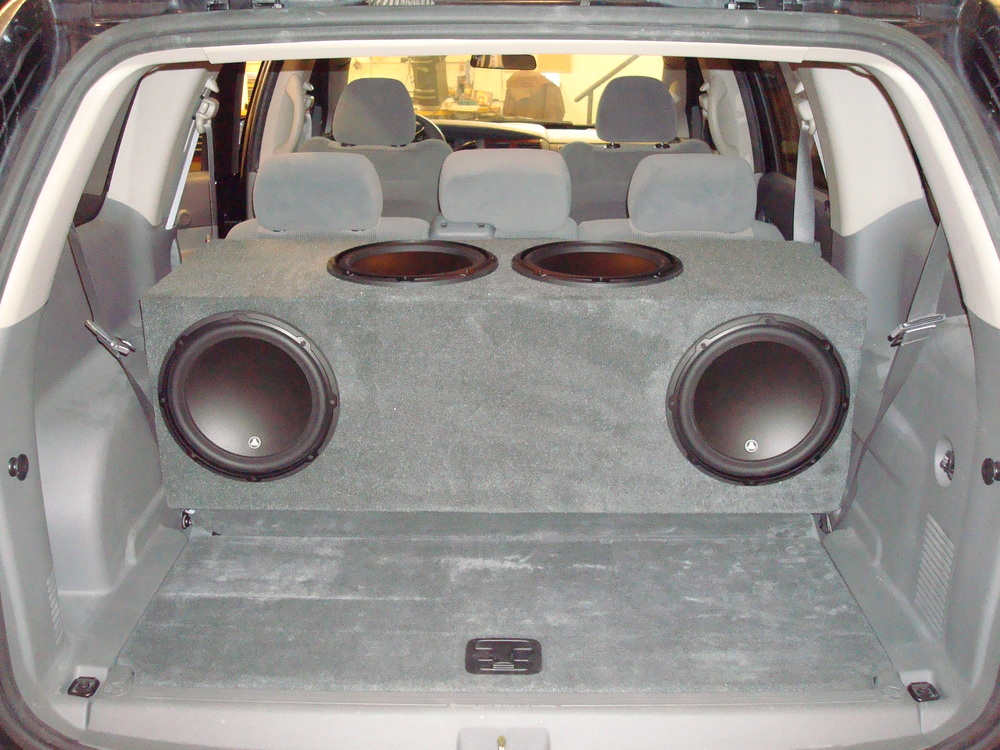 2006 Durango - Custom Subwoofer Enclosure for (4) Jl Audio 12W3's