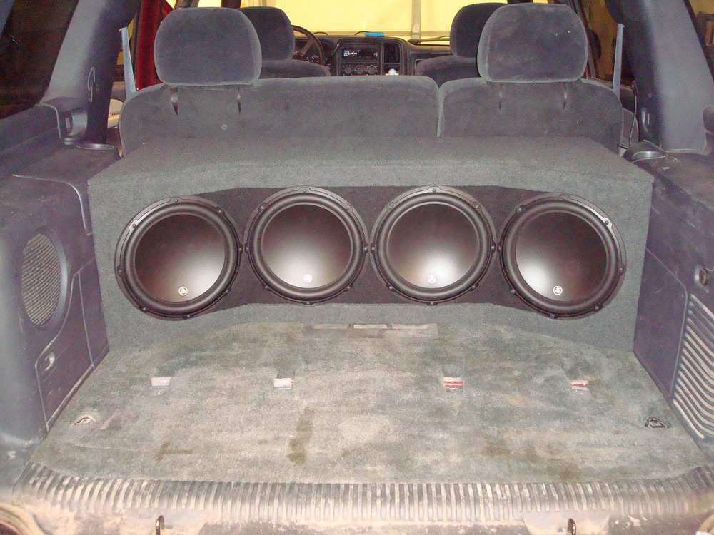2001 Tahoe - Custom subwoofer enclosure for (4) JL Audio 12W3's