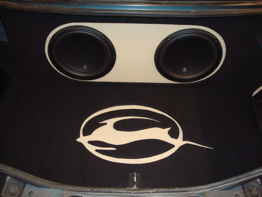 Chevy Impala - Custom subwoofer enclosure for (2) JL Audio 12W3's and trunk finish