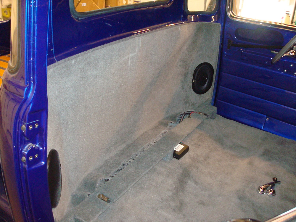 1950 Chevy - Rear Speakers & Finish Paneling