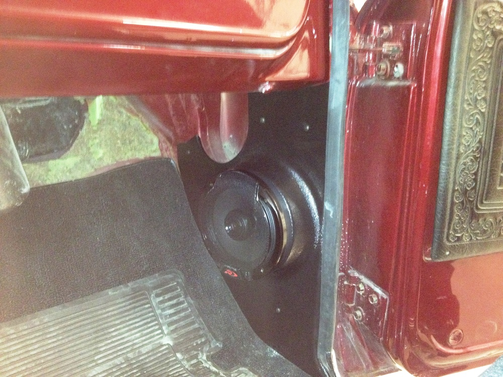 "1969 Chevy C10 - Alpine Type R 6.5"" Kick Panel Speakers"
