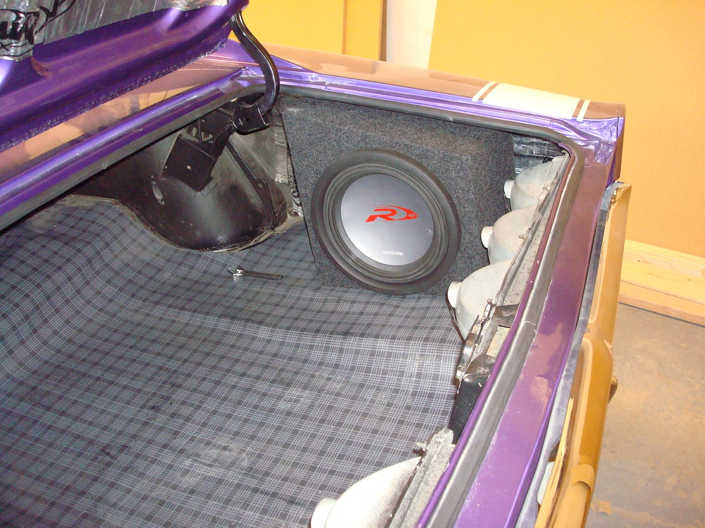 "1969 Charger - Customer Subwoofer Enclosures for 12"" Alpine Type R Subwoofers"