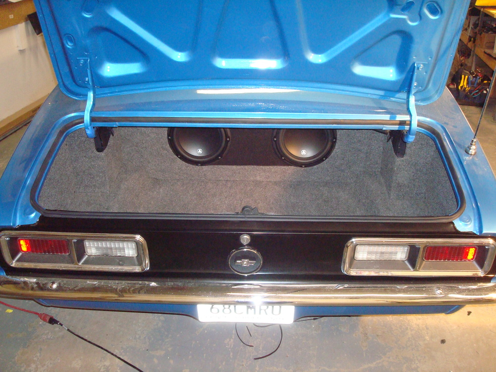 1968 Camaro - Custom Subwoofer Enclosure for (2) JL Audio 10W3v3 Subwoofers & Trunk Finishing