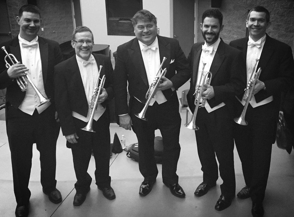 With the Arizona Music Fest trumpet section: Les Linn, Scott Moore, Michael Tiscione, Chris Martin