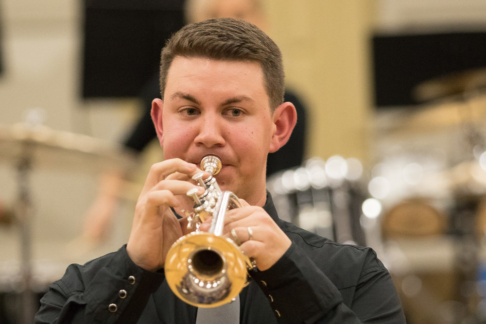 Performing with Dallas Brass