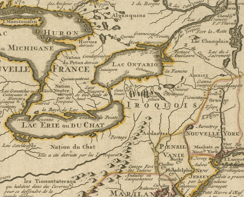 Detail:    Guillaume de   L'Isle.   Louisiana, Mississippi River Valley, United States. 1718. Boston Public Library.