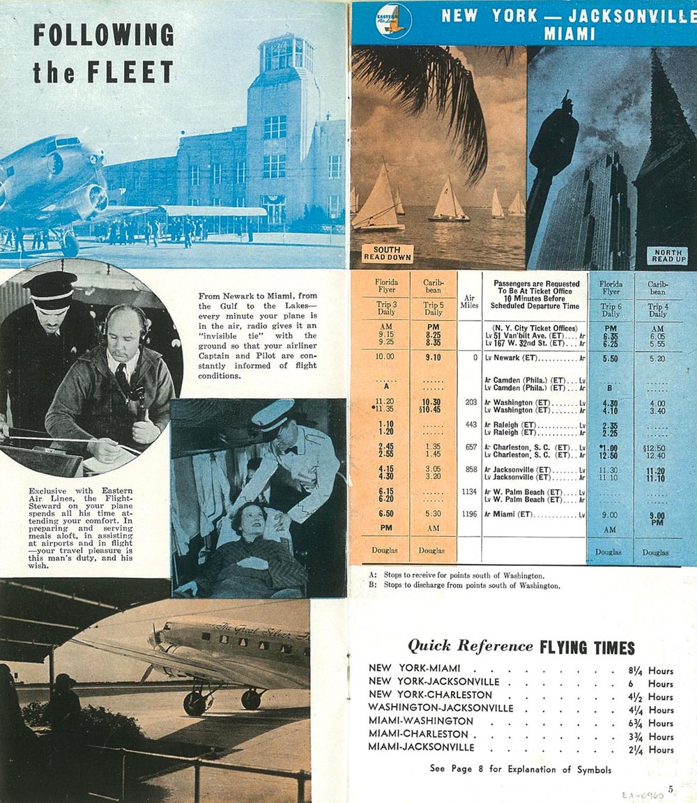 Eastern Airline Flight Timetable. 17 May 1937. Retrieved from  Airline Timetable Images.  Courtesy of Bjorn Larsson.