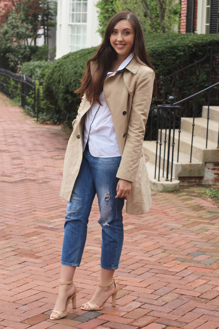 zara-trench-boyfriend-denim-j.crew-pajama-shirt