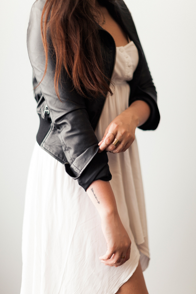 leather-jacket-bebe-asymetrical-cotton-on-dress-midi-rings