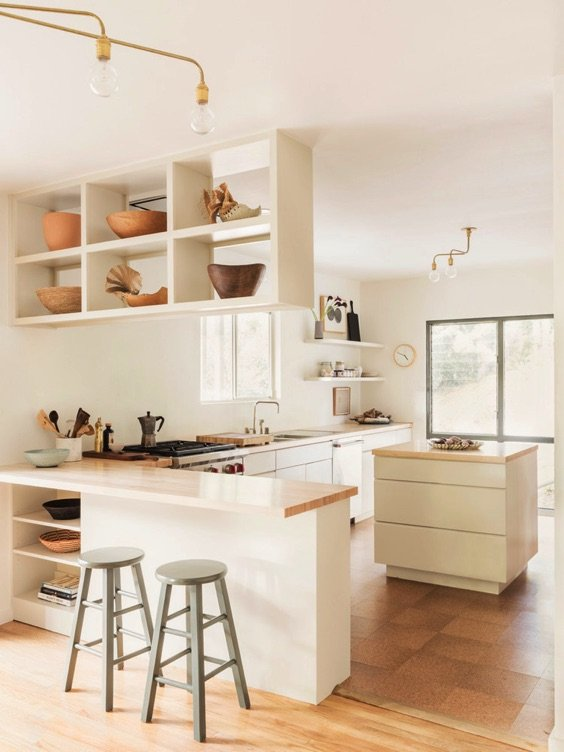 11 Clean Spaces To Inspire A Declutter In The New Year via Glitter Guide
