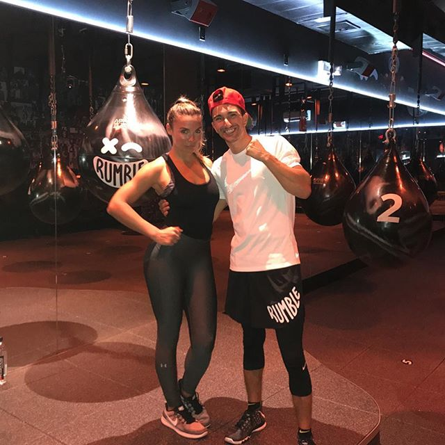 Thanks for the amazing class! @andrewgstern @rumble_boxing 🥊