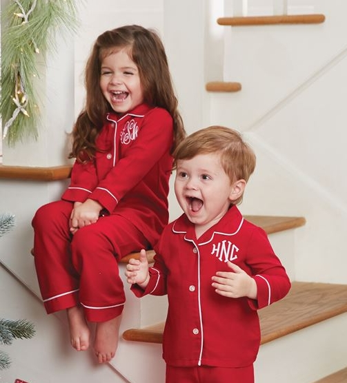 personalized mudpie red pajamas - Mud Pie Christmas Pajamas