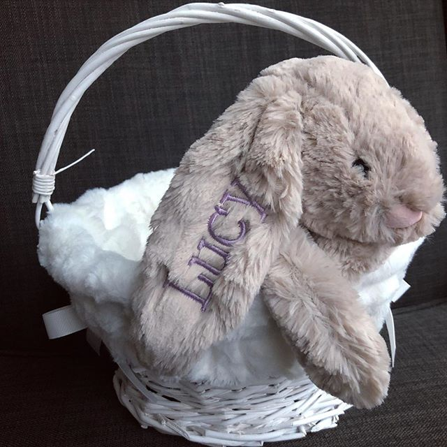 That time of year...bunnies are hopping on out the door left and right...order by April 12th for delivery before Easter! 🐰 #hbehrmanndesigns #easter #easterbasketideas #jellycatbunny