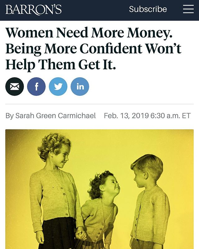 Can we move books on the je ne sais qua of confident women to the same shelf as fat free cookies? Professional women walk a fine line in behavior and speech not because they lack confidence. They face harsher consequences and are denied the flexibility conferred to men  #womenemployed #workingmoms #confidence #sexism